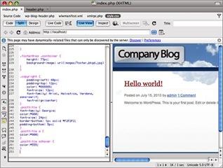Titre des articles pour personnaliser un thème Wordpress avec Dreamweaver