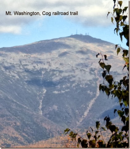 Mt. Washington, Cog railroad trail