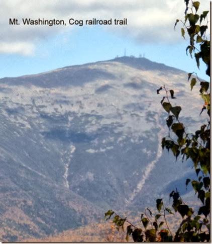 Mt. Washington, Cog railroad trail