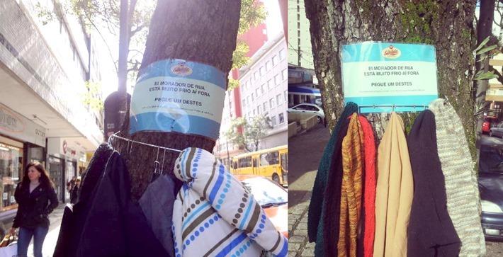 brecho doacao campanha agasalho arvores curitiba 2013