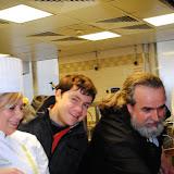 Με Ντίνα Νικολάου και Πάτερ Επηφάνειο στην κουζίνα του ξενοδοχείου Westin στο παρίσι