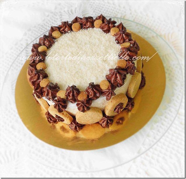 Cheesecake di yogurt al cocco e cacao