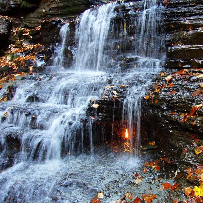 Eternal Flame Falls in New York