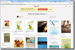 Pinterest books by people I know screenshot