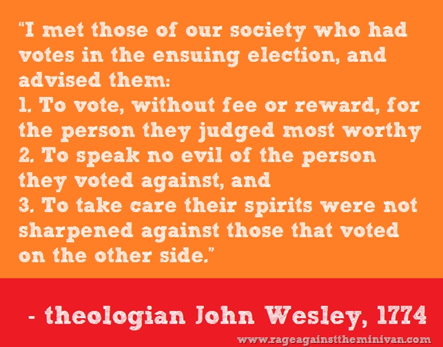 quote on voting by theologian John Wesley