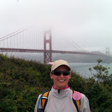 Andrea approaching the GGB