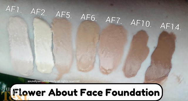 Flower by Drew Barymore: About Face Foundation; Review & Swatches of Shades