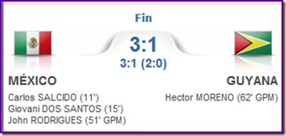 México 3-1 Guyana