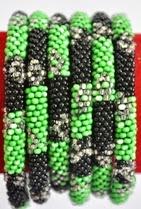 rollover bracelet green black