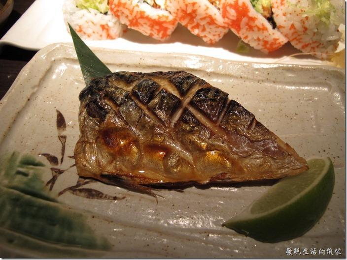 台北-三四味屋。【酒屋旬鮮套餐】燒物─烤鯖魚。