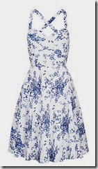 Louche Floral Print Blue and White Dress