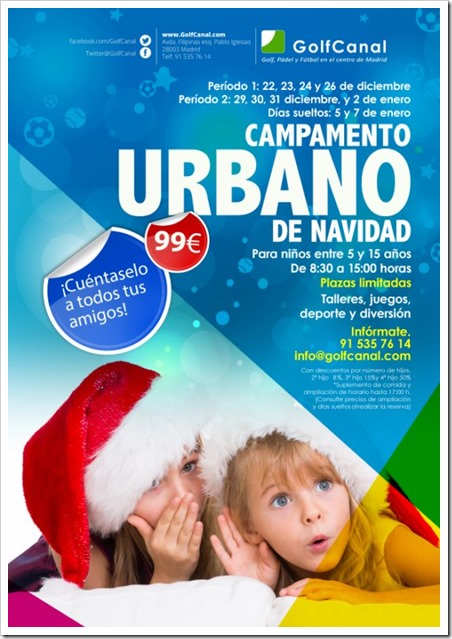 Campamento Urbano de Navidad 2014 GolfCanal: Pádel, Golf, Fútbol y mucho más!
