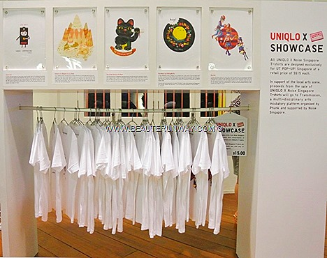 UNIQLO UT POP UP Singapore Showcase designers bleufish Audrey Leon Lazy Tree Joyce Lee Qi Xuan Ly Yeow Puffingmuffin Candice Phang Godzilla Enecdote For This Cycle Weiwen Seah Jonathan Chan Hariz Lincoln  Sapporo Safaris Singapore