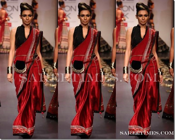 Anita_Dongre_Red_Saree