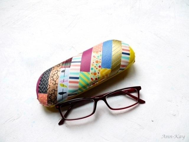 washi tape eye glass case