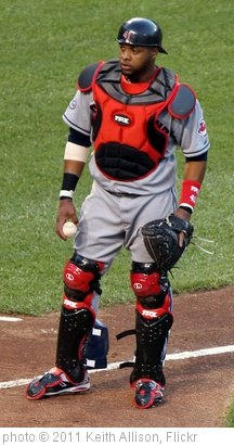 'Cleveland Indians catcher Carlos Santana (41)' photo (c) 2011, Keith Allison - license: http://creativecommons.org/licenses/by-sa/2.0/