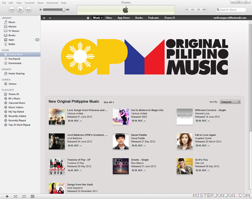 iTunes Store Philippines OPM Original Pilipino Music