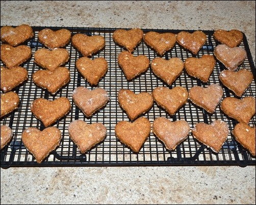 baked homemade dog biscuits