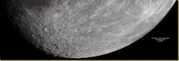 30 January 2015 Moon South polar region