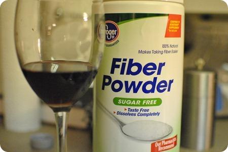 fiber and red wine