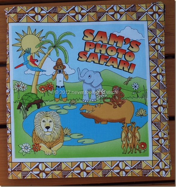 2012 Sam's Photo Safari cloth book