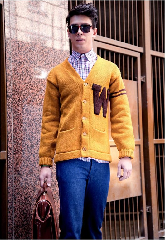 Vintage Wool Varsity Cardigan, £80, Mint Vintage
