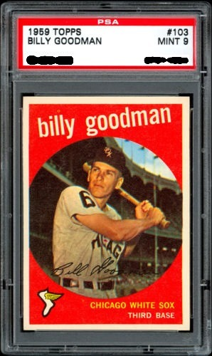 1959 Topps 103 billy goodman