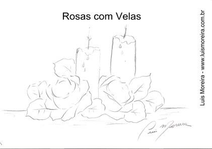 rosas e velas