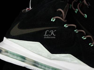 nike lebron 10 sportswear black mint nubuck 6 11 Nike Sportswears LeBron X EXT Black / Mint (607078 001)