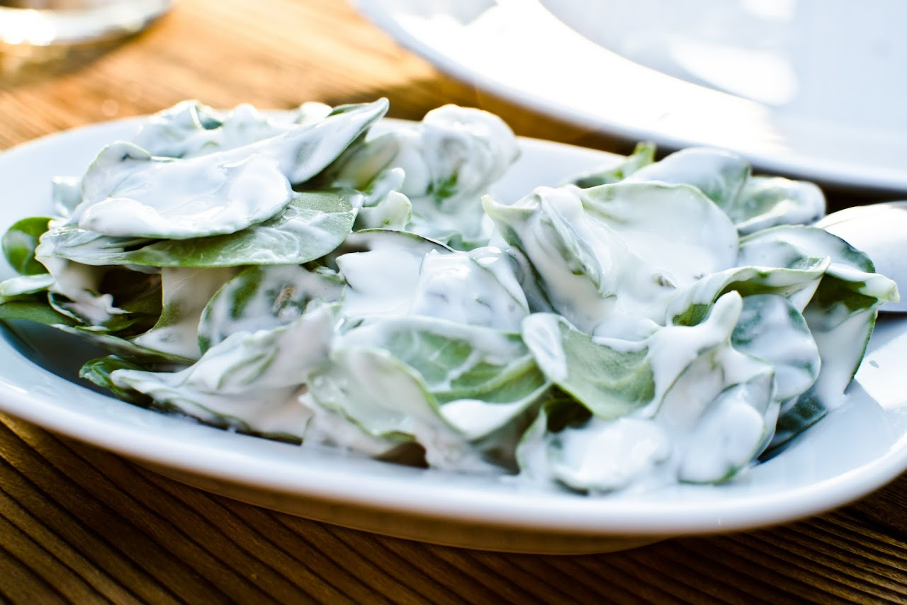 Purslane with yogurt