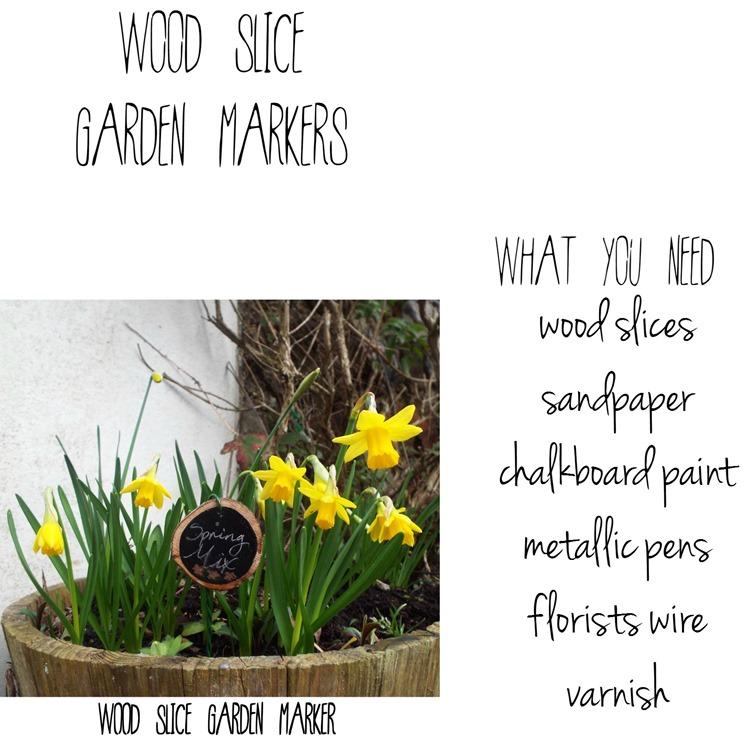 How To ~ Wood Slice Garden Markers
