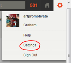 stumbleupon settings