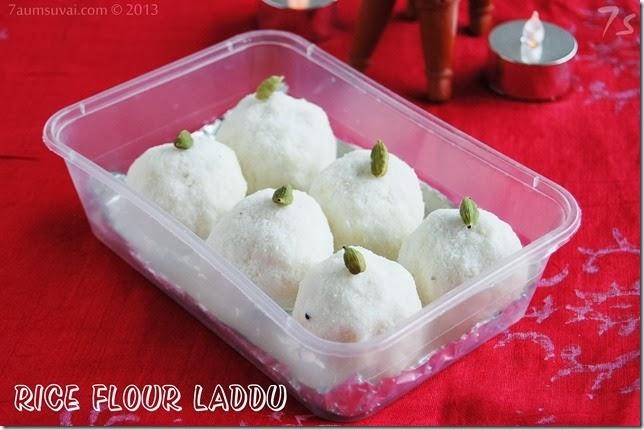 Rice flour laddu