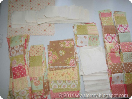 Pieces for Fresh Cotton Quilt