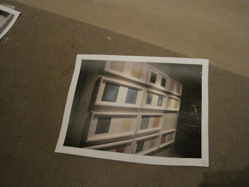 I had remembered to take a photo of the prints prior to the re-framing so I knew the exact placement that I liked.