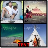 TENT- 4 Pics 1 Word Answers 3 Letters