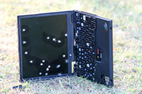 IBM Thinkpad with optional see-thru screen holes
