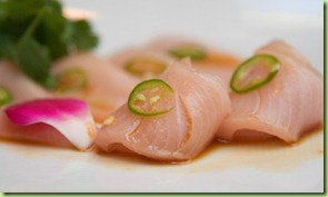 nobu_yellowtail sashimi