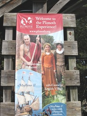 Plimoth Plant entrance sign 8.31.12