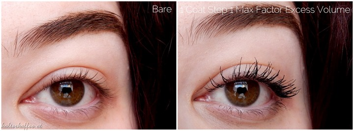 Max Factor Excess Volume Extreme Impact Mascara applied