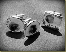 fingerprirnt cufflinks (Small)