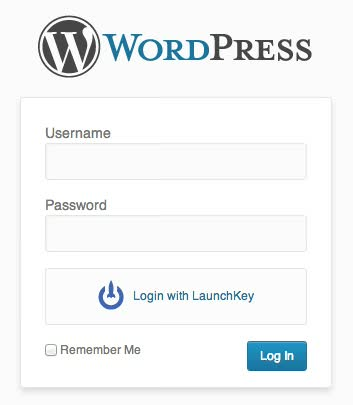 LaunchKey WordPress login