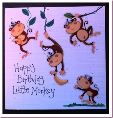 Little Monkey card 4