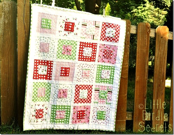 gathered baby quilt tutorial