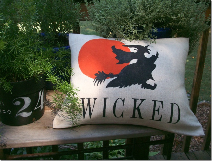 Wicked Halloween Pillow 019