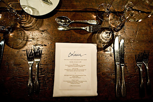 The menu was a Linda & Harriett design, personalized with each guest's name on top.