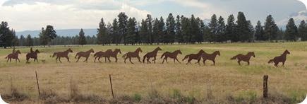 120.Horse sculptures