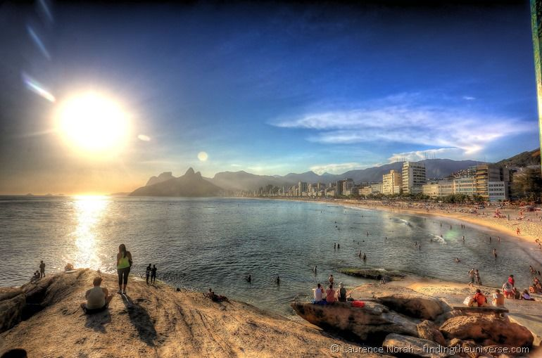 Ipanema beach evening sunset 2