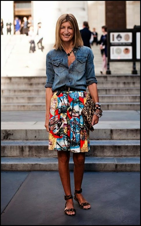 summer skirt with denim