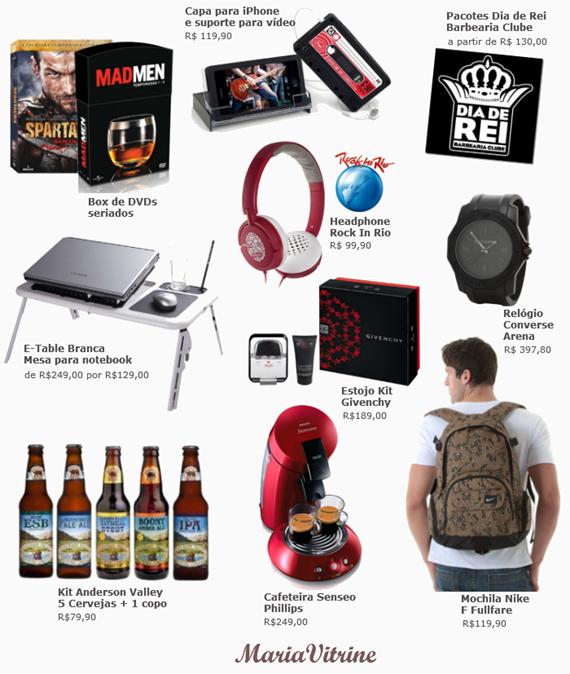 Presente para Homem: Lista com 20 coisas que eles podem gostar de ganhar.
